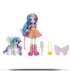 Equestria Girls Celestia Doll And Pony
