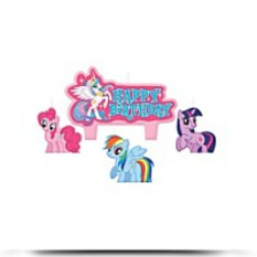 My Little Pony Mini Molded Candles 4CT