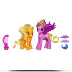 Princess Cadance And Applejack Figures