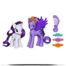 Princess Luna And Rarity Figures