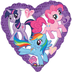 little pony heart foil balloon