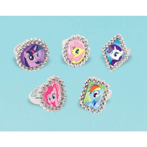 My Little Pony Friendship Magic Jewel Rings (18) Party Accessory